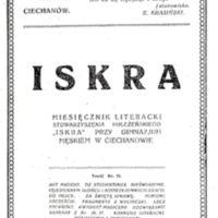 1923 Iskra nr 19 okładka.jpg