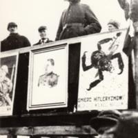 Władze radzieckie Ciechanowa na wiecu 23 stycznia 1945 r. [Dokument ikonograficzny].