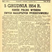 Głos Ciechanowa, 1954, Nr 3