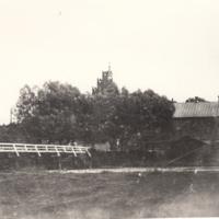 Ciechanów - widok na farską górę i młyn przy moście [Dokument ikonograficzny].